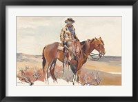 Framed Western Rider Warm