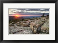 Framed Acadia National Park Sunset