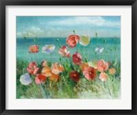 Framed Coastal Poppies