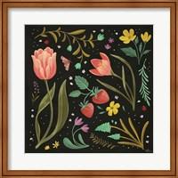 Framed Spring Botanical III Black