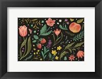 Framed Spring Botanical I Black