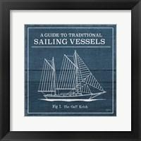 Framed Vintage Sailing Knots XI