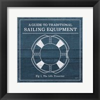 Framed Vintage Sailing Knots X