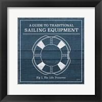 Framed Vintage Sailing Knots X