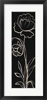 Framed Black Floral II Crop