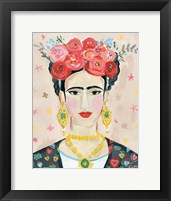 Framed Homage to Frida Neutral