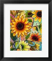 Framed Sunflower Power I