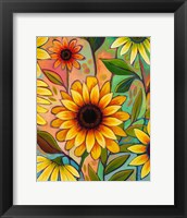 Framed Sunflower Power II