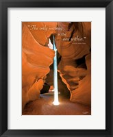 Framed Divine Light (The only journey is the one within)