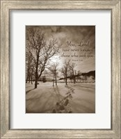 Framed First Snow (You, Lord have never forsaken...)