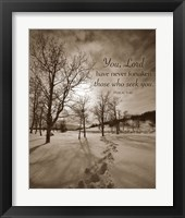 Framed First Snow (You, Lord have never forsaken...)