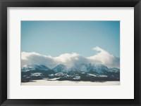 Framed Bridger Mountain Cloud Cover