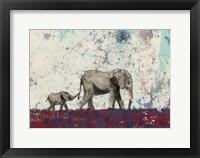 Framed Elephant March