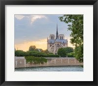 Framed Notre Dame - View from the Seine