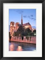 Framed Notre Dame at Dusk