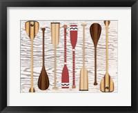 Framed Canoe, Paddles & Oar