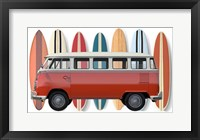 Framed Surfer Van