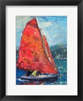 Framed Red Sail