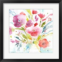 Framed Bouquet with Magenta