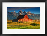 Framed Barn and Grand Tetons, WY