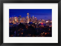 Framed Night Seattle