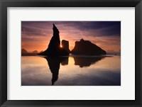 Framed Sea Stacks, Bandon, Oregon