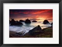 Framed Secret Beach, Oregon Coast