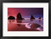 Framed Sunset and Sea Stacks, Oregon