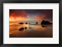 Framed Sunset Cannon Beach