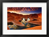Framed Sunset Reflection Canyon, Utah