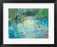 Framed Evening Creek Blues