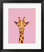 Framed Baby Giraffe