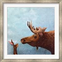 Framed Moose and Rabbit