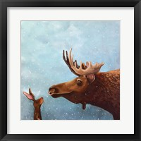 Framed Moose and Rabbit