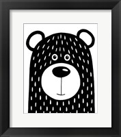 Framed Vanilla Bear