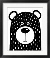 Framed Vanilla Bear