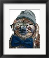 Framed Hipster Sloth