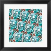 Framed Blue Robo Army