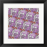 Framed Purple Robo Army