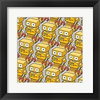 Framed Yellow Robo Army