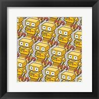 Framed Yellow Robo Army