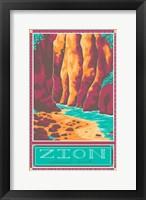 Framed Zion National Park