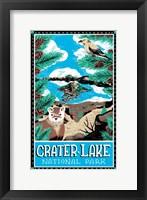 Framed Crater Lake National Park