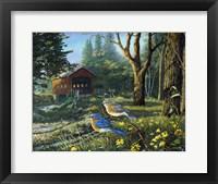 Framed Sleepy Hollow Bluebirds