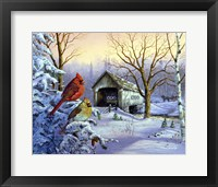 Framed Snowy Haven