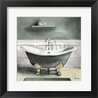 Framed Smoky Gray Bath I