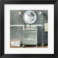 Framed Smoky Gray Bath II
