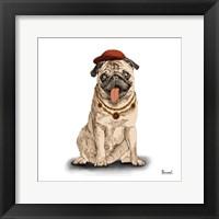 Framed Pugs in Hats I
