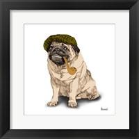 Framed Pugs in Hats II