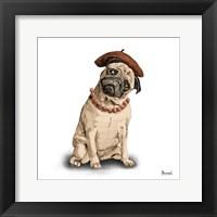 Framed Pugs in Hats IV